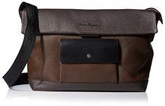 Salvatore Ferragamo Men's Matthew with Pocket Flap-Over Messenger Bag, Fondente