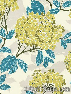 Curtain Panels using Joel Dewberry Birch Farm Hydrangea Sage or Egg Blue