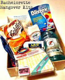 Coloring Orange: Bachelorette Party Favor: Hangover Kits