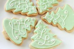 Christmas Tree Icing Cookies by TH Bakes in Mumbai, India