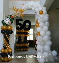 50th Birthday Balloons, Birthday Balloon Decorations, Bachelorette Party Decorations, Beer Birthday Party, Dessert Table Birthday, Balloon Columns, Balloon Arch, Champagne Balloons, Balloon Arrangements