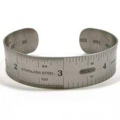 Original ruler cuff made of high grade stainless steel a unique gift