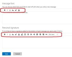 Hotmail Email Inbox Features