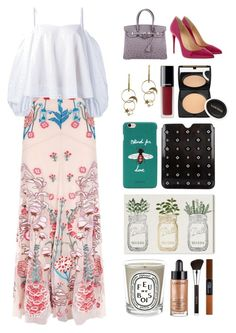 """""""7.341"""" by katrinattack ❤ liked on Polyvore featuring Temperley London, Christian Louboutin, Anna October, Hermès, Zimmermann, Chanel, Lancôme, Gucci, Prada and Oliver Gal Artist Co."""
