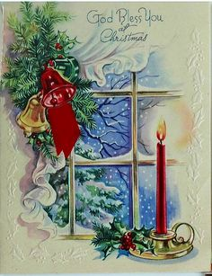 241 Best Cards~Vintage Christmas Candles images