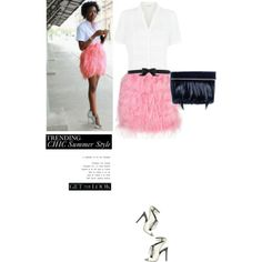 """Trending: Chic Summer Style, Get The Look With @KATHERINE KWEI And The #JoyceDayClutch."" by irishrose1 on Polyvore"