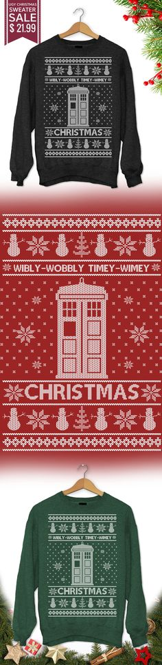 Christmas Ugly Sweater Dr. Who - Get this limited edition ugly Christmas Sweater just in time for the holidays! Buy 2 or more, save on shipping!