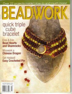 beadwork magazines 1998 - 2011 + autres livres perles
