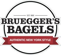 Our bakers have prepped the first batch of bagels before you're out of bed. Your bagel & cream cheese will be ready, no matter when you start your day. Bagel Bakery, Bagel Cafe, Bagel Shop, Sandwich Menu, Sandwiches For Lunch, Breakfast Sandwiches, Best Bagels, Bruegger's Bagels, Churro Bites