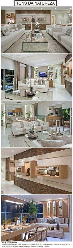 Marcenaria com acabamento laqueado, porcelanato no piso, painéis e móveis de madeira carvalho, espelhos, linhos, sedas e couro. Essa mistura de materiais tornou este apartamento de 200 m² clean, co…