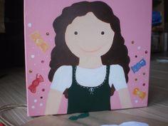Hand Painted girl nursery art nursery decoration by zografia, $25.00