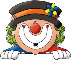 Carnaval. Caretas a todo color ... Cartoon Drawing For Kids, Cartoon Drawings, Easy Drawings, Clown Party, Circus Party, Happy Birthday Clown, Clown Horror, Birthday Clipart, Send In The Clowns