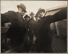 Rooftop Photo from the 1920s May be the First Group Selfie in History  Uncle Joe Byron, Pirie MacDonald, Colonel Marceau, Pop Core, Ben Falk-New York Dec. 1920.