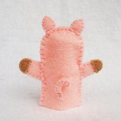 Fieltro marioneta de dedo cerdo marioneta animal marionetas