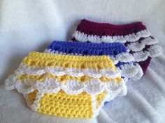 Crochet PATTERN ruffled diaper cover by SunshineCharlotte14