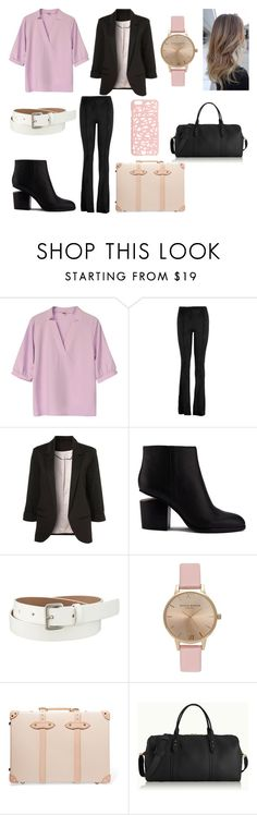 """Untitled #174"" by kora-muffin on Polyvore featuring Hale Bob, Alexander Wang, Uniqlo, Topshop, Globe-Trotter, GiGi New York, Miss Selfridge and plus size clothing"