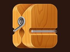 Anna Paschenko http://dribbble.com/shots/637244-Clothespin-iOS-icon#