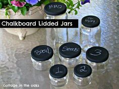 Chalkboard Lidded Jars
