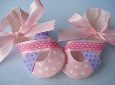 Patrones para hacer zapatitos bebé tela - Imagui