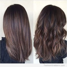 Balayage brunette for curly and straight hair for fall <3 Check this now!