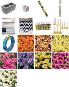 """""""Stenciled Cinder Blocks"""" by gardenanswer"""