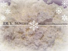 See how easy it is to make your own DIY Snow!
