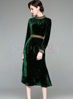 Shop Fashion Solid Color Cinched Waist Bodycon Dress at EZPOPSY. Hijab Fashion, Fashion Dresses, Black Women Fashion, Womens Fashion, Bodycon Dress Formal, Luxury Dress, Mode Hijab, Fashion Story, Ladies Dress Design