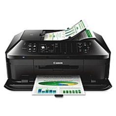 Canon PIXMA MX922 Inkjet Multifunction Printer - Color - Photo/Disc Print - Desktop - Copier/Fax/Printer/Scanner - 15 ipm Mono/10 ipm Color Print (ISO) - 21 Second Photo - 9600 x 2400 dpi Print cpm