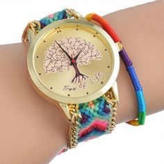 HOT Handmade Braided Elephant/Dreamcatcher Friendship Bracelet Watch GENEVA Watches Women Quarzt Watches relogio feminino 1pc