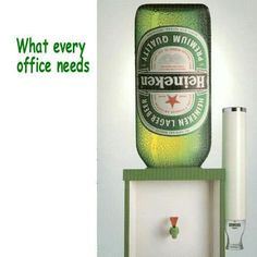 I think we'd make more money if my company sold this to go on the water coolers!  Love it!
