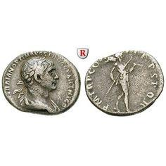 Römische Kaiserzeit, Traianus, Denar 101-102, ss: Traianus 98-117. Denar 18 mm 101-102 Rom. Drapierte Büste r. mit Lorbeerkranz IMP… #coins