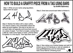 how to build a graffiti piece lesson