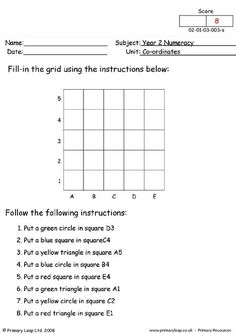 PrimaryLeap.co.uk - Coordinates (2) Worksheet