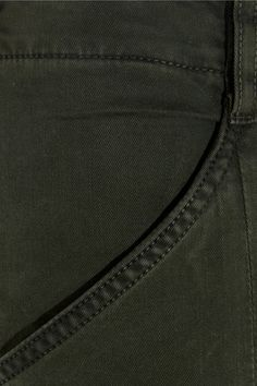 J Brand - Houlihan Cropped Stretch-cotton Twill Skinny Pants - Army green - 28