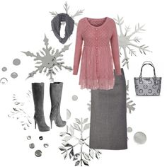 A fashion look from November 2012 featuring Michael Kors skirts, Pollini boots and Coach tote bags. Browse and shop related looks.