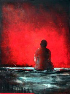 LOOKING EASTWARD - Margarita Lypiridou - 48'' x 36''  technique mixte sur toile