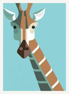 Modern giraffe print for the boy's room.