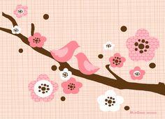 Personalized Digital Kids wall art  Two birds door ModGenesDesigns, $14.95