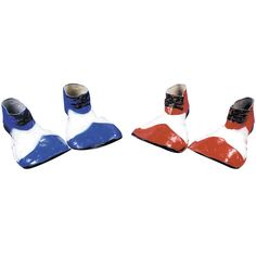 Blue & White Clown Shoes