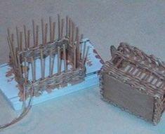 rectangular wicker basket