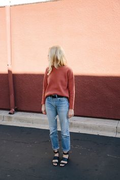 Sweater + jeans for the weekend