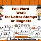 Get into the fall spirit with these colorful word work mats.  There are 12 different fall words you can print out and laminate.  $2.00