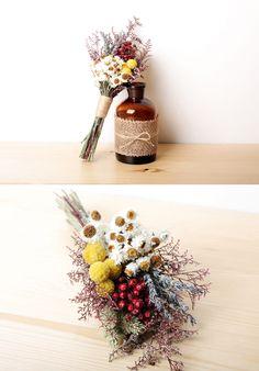 [바보사랑] 빈티지함 물씬~ 드라이플라워 부케 /꽃다발/인테리어소품/드라이플라워/웨딩부케/Bouquet/Interior props/Dried Flower