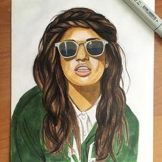 "@miamatangi for @hm ""Rewear it"" H&M world recycle  #Mia #h&m #hm #world #art #artwork #arts_help #nawden #talnts #youth #recycle #urban #ukraine #indian #original #portrait #pencil #drawing #sketch #fashion #melanin #blackandwhite #blackisbeautiful #badass_genius #badassgenius #nofilter by badass_genius"