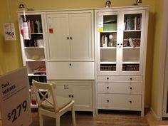 My new office corner furniture hemnes desks and