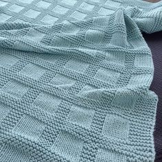 Ravelry: Jamknitter's Basket Rib Blanket - Knitting and Crochet