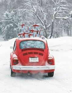 Christmas Colors, Christmas Time, Merry Christmas, Volkswagen, Hello Winter, Gift Of Time, Bugs, Vehicles, Gifts