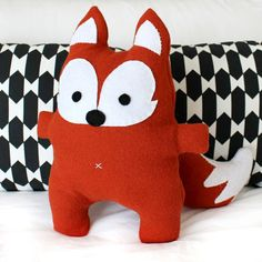 Make a gorgeous Mr Fox with this PDF sewing pattern. The finished Mr Fox measures around 30cm/12 inches in height with the cutest felt detailed fac...