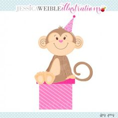 Monkey Sitting on a Gift