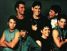 Tom Cruise Matt Dillon Emilio Estevez Rob Lowe Patrick Swayze Thomas Howell And Ralph Macchio Ralph Macchio, Patrick Swayze, 80s Movies, Great Movies, Movies To Watch, Awesome Movies, Beau Film, Matt Dillon, Rob Lowe